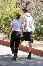 ASHLEY BENSON and G-Eazy Out Hiking in Los Angeles 01/11/2021