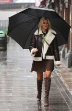 ASHLEY ROBERTS Arrives at Global Radio in London 01/13/2021