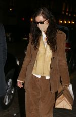 BELLA HADID Out in Paris for Fashion Week 01/26/2021