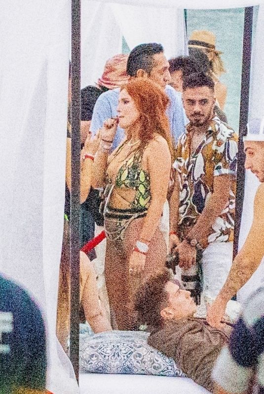 BELLA THORNE at a Beach Party in Tulum 01/02/2021