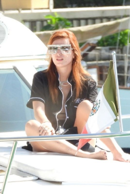 BELLA THORNE at a Boat on Vacation in Tulum 01/09/2021
