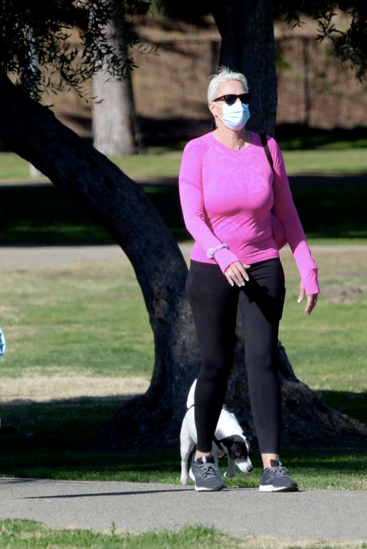 BRIGITTE NIELSEN Out at a Park in Los Angeles 01/08/2021
