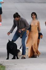 CAMILA CABELLO Out with Her Family Dogs in Miami 01/16/2021