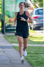 CANDICE WARNER Out Jogging in Maroubra 01/11/2021