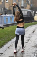 CAPRICE BOURRET Out Jogging in London 01/26/2021