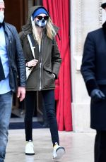 CARA DELEVINGNE Leaves La Reserve Hotel at Paris Haute Couture Fashion Week 01/27/2021