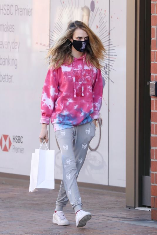 CARA DELEVINGNE Out and About in Los Angeles 01/08/2021
