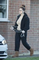 CHANELLE HAYES Outside Her Home in England 01/25/2021