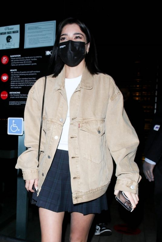 CHARLI and DIXIE D'AMELIO at Bos Steakhouse in West Hollywood 01/30/2021
