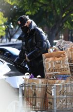 CHARLIZE THERON Shopping at Bristol Farms in Beverly Hills 01/25/2021