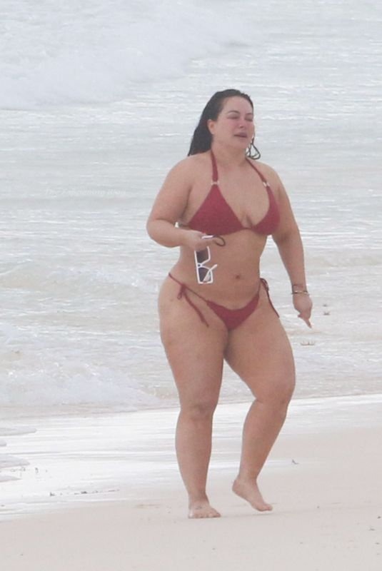 CHIQUIS RIVERA in a Red Bikini at a Beach in Tulum 01/22/2021