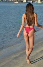 CHLOE VEITCH in a Red Bikini at a Beach in Dubai 01/25/2021