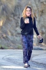 CHRISHELL STAUSE Out with Her Dog Gracie in Hollywood Hills 01/25/2021