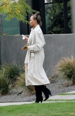 CHRISSY TEIGEN Out Boarding a Private Jet in Los Angeles 01/19/2021