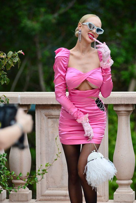 CHRISTINE QUINN at a Photoshoot at a Bel Air Mansion 01/10/2021