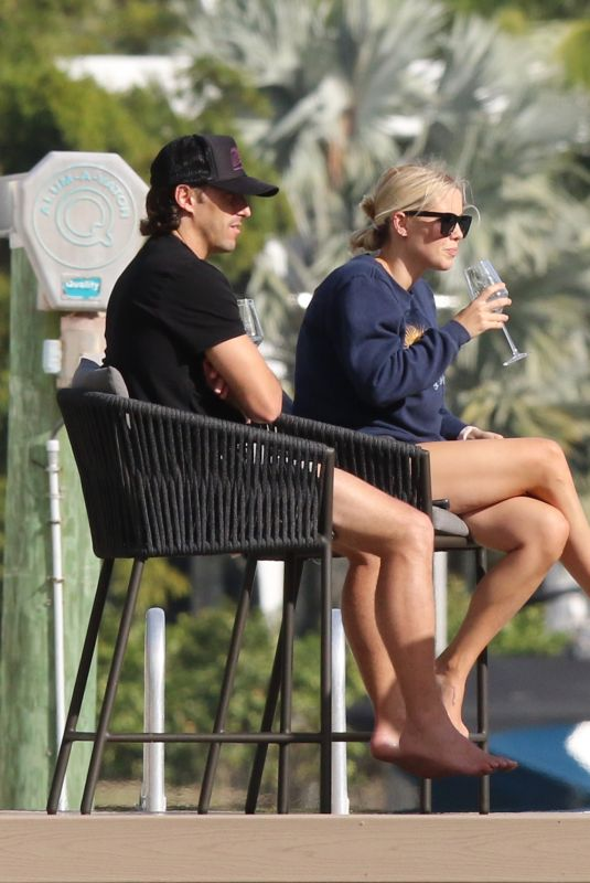 CLAIRE HOLT and Andrew Joblin Relaxing in Miami Beach 01/04/2021