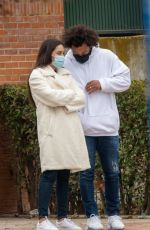 CLARISSE ALVES and Marcelo Vieira Out in Madrid 01/28/2021