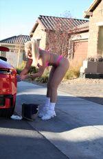 CLAUDIA FIJAL in Bikini Wash Her Porsche 911 Carrera in Las Vegas 01/17/2021