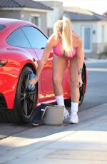 CLAUDIA FIJAL in Bikini Wash Her Porsche 911 Carrera in Las Vegas 01/17/2021