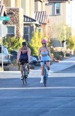 CLAUDIA FIJAL Out Riding a Bike in Las Vegas 01/28/2021