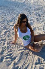 CLAUDIA ROMANI Promotes Basic Vegan at Miami Beach 01/11/2021
