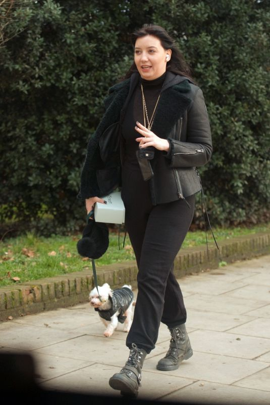DAISY LOWE Out with Her Dog in London 01/28/2021