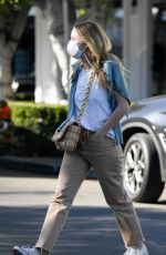 DAKOTA FANNING Out Shopping on Melrose Place in West Hollywood 01/16/2021