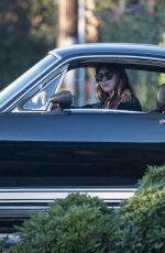 DAKOTA JOHNSON Out in Her GT 350 in Malibu 01/16/2021