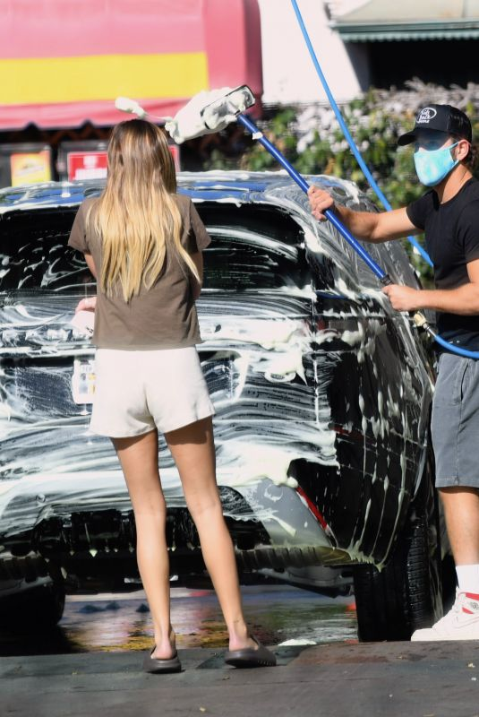DELILAH HAMLIN and Scott Disick Wash Their Car in Santa Monica 01/11/2021