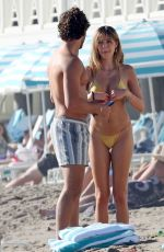 DELILAH HAMLIN in Bikini and Eyal Booker at a Beach in Santa Barbara 01/16/2021