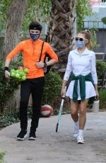 DEMI BURNETT and Alexander James Rodriguez at a Tennis Court in Los Angeles 01/08/2021