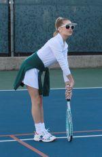 DEMI BURNETT at Tennis Practice in Los Angeles 01/18/2021