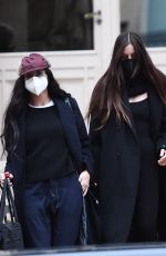 DEMI MOORE and SCLOUT WILLIS Leaves Fendi Show at Paris Fashion Weeki 01/27/2021
