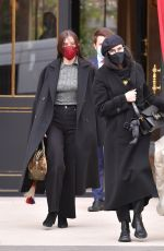 DEMI MOORE and TALLULAH WILLIS Out in Paris 01/26/2021