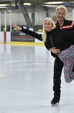 DENISE VAN OUTEN at Dancing on Ice Rehersal in London 01/09/2021