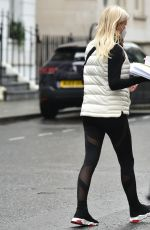 DENISE VAN OUTEN Leaves a Medical Clinic in London 01/19/2021
