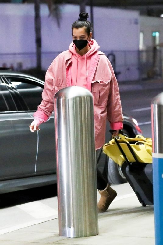 DUA LIPA at LAX Airport in Los Angeles 01/10/2021