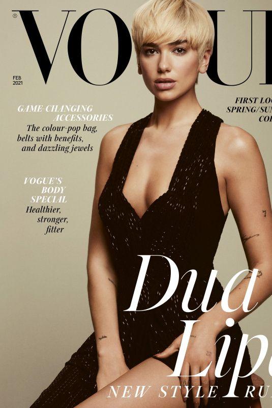 DUA LIPA for Vogue Magazine, UK February 2021