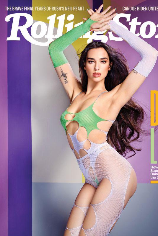 DUA LIPA in Rolling Stone Magazine, February 2021