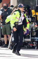 EIZA GONZALEZ on the Set of Ambulance in Los Angeles 01/19/2021