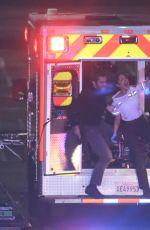 EIZA GONZALEZ on the Set of Ambulance in Los Angeles 01/27/2021