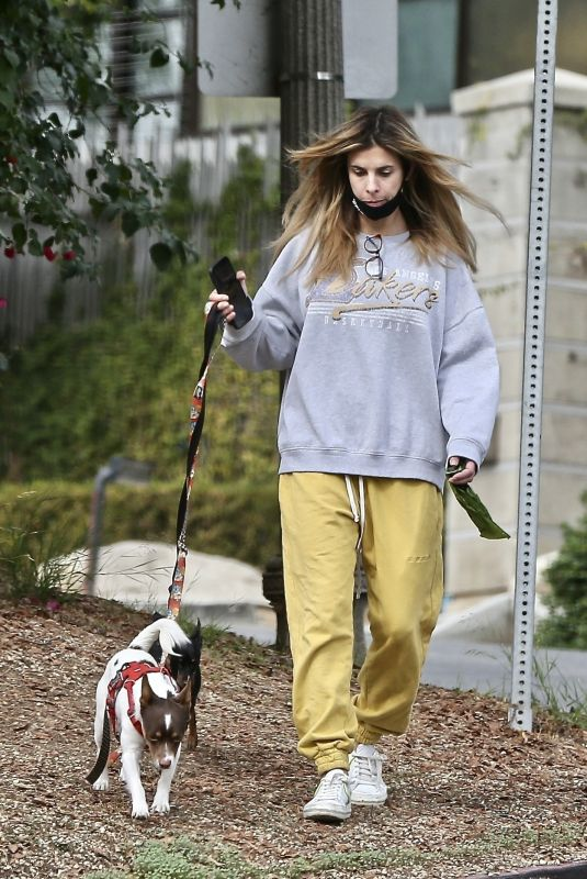 ELISABETTA CANALIS Out with Her Dogs in West Hollywood 01/10/2021