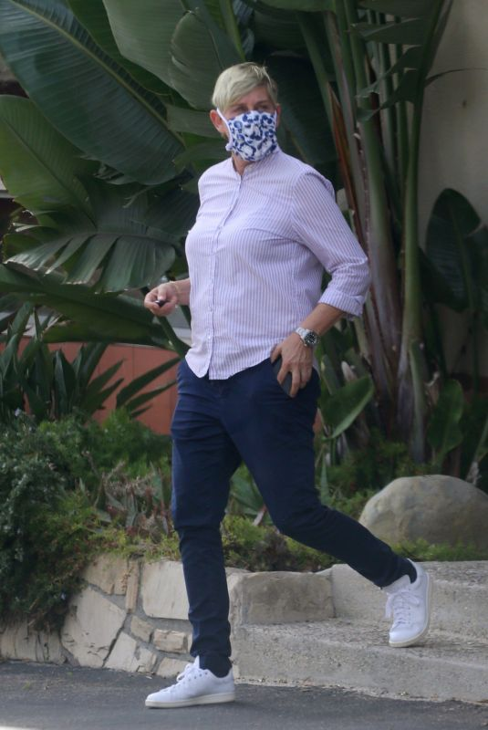 ELLEN DEGENERES Out and About in Montecito 01/03/2021