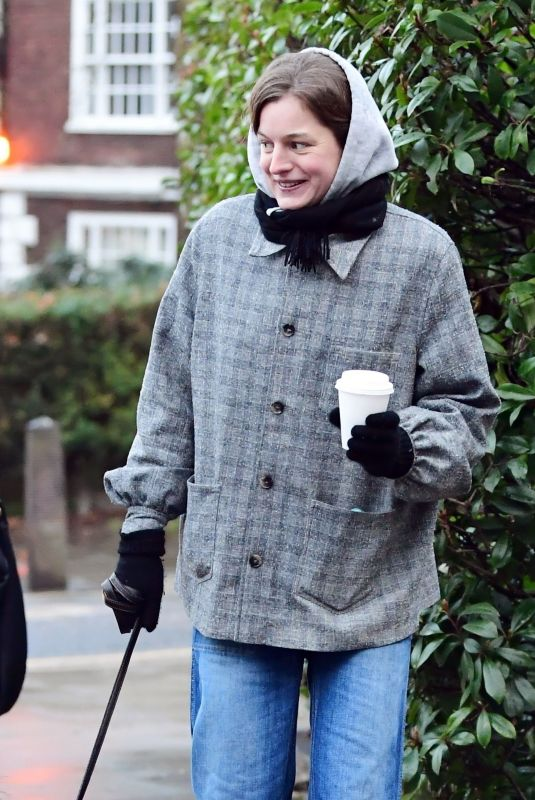 EMMA CORRIN Out with Her Dog in Primrose Hill 01/03/2021
