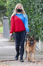 EMMA SLATER Out with Her Dogs in Los Angeles 01/23/2021