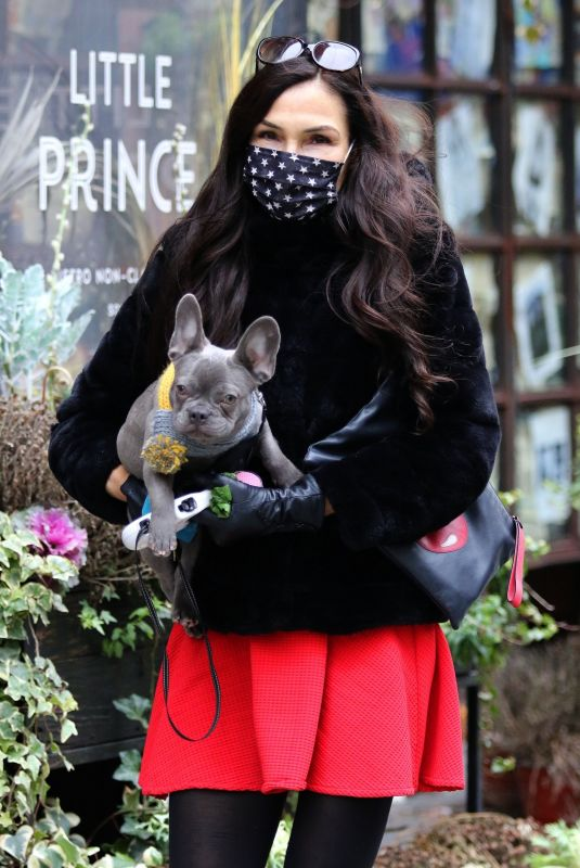 FAMKE JANSSEN Out with Her Dog in New York 01/05/2021