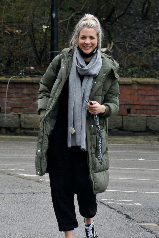 GEMMA ATKINSON Arrives at Hits Radio Station in Manchester 01/28/2021