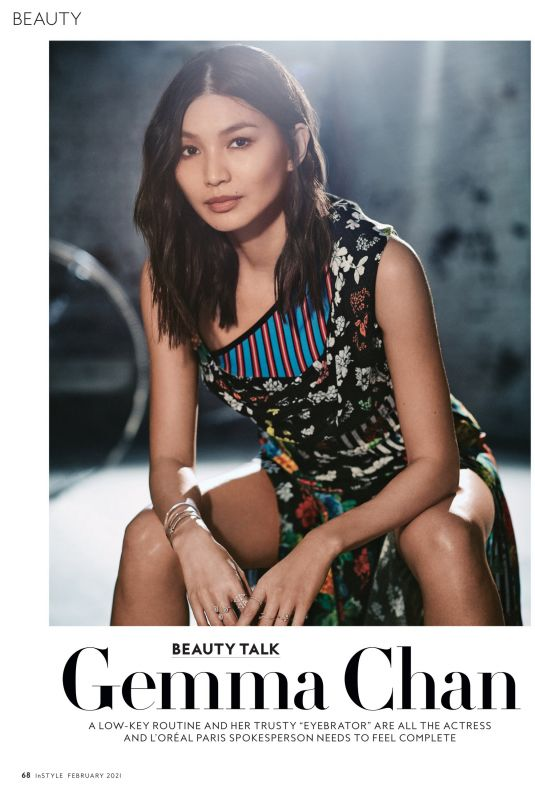 GEMMA CHAN in Instyle Magazine, February 2021