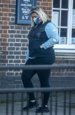 GEMMA COLLINS Out for Coffee in Loughton 01/25/2021