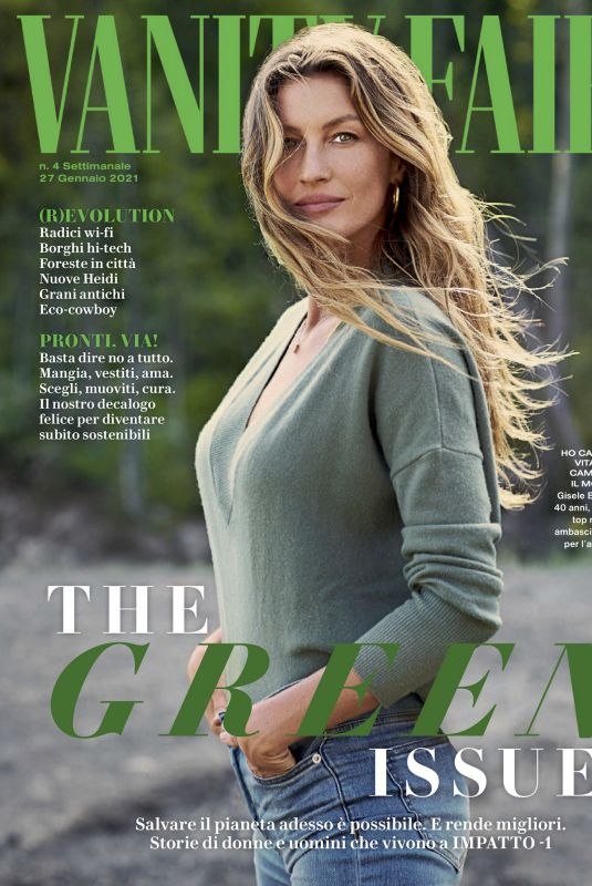 GISELE BUNDCHEN in Vanity Fair Magazine, Italy January 2021